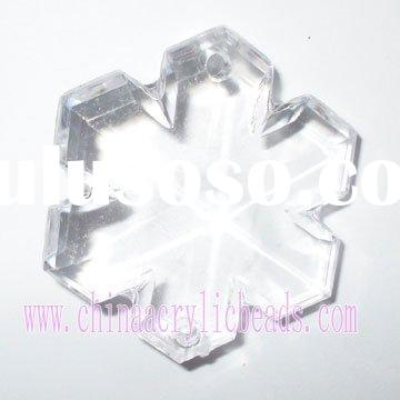 acrylic snowflake bead,clear crystal beading,fashion transpaprent bead