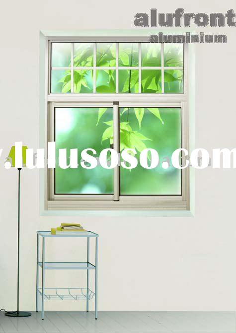 aluminum sliding window with top fixed part