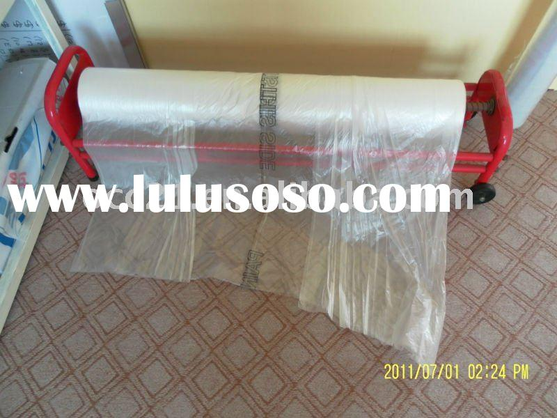 auto paint masking film with dispenser