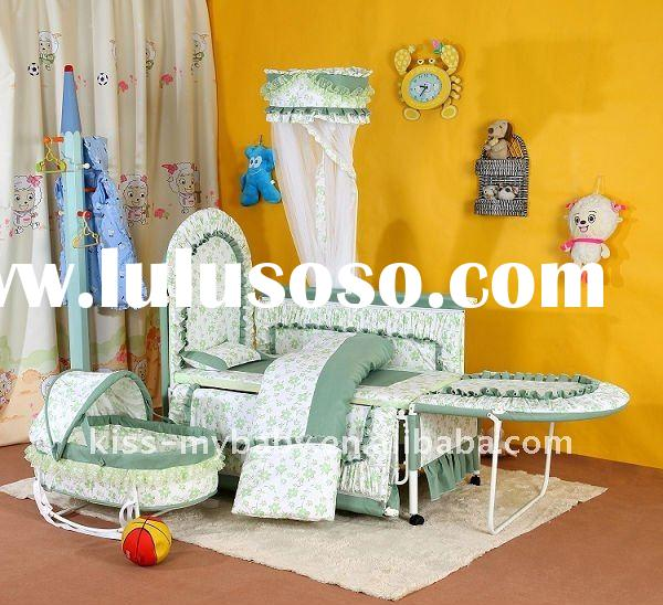 baby metal crib,The design is beautiful and practical baby bed, can lengthen, palace of mosquito net