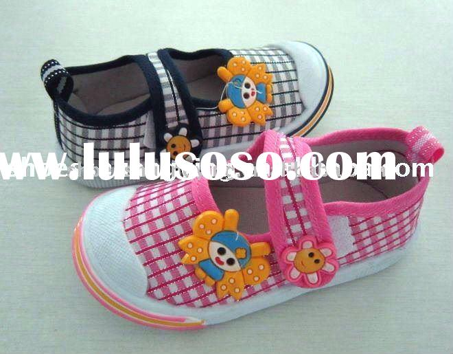 buckle strap baby injection canvas shoes