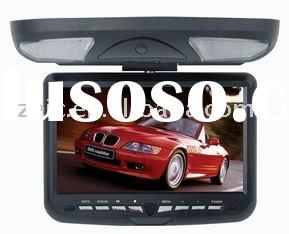 car roof mount dvd player with USB SD iPOD and tv 9 inch