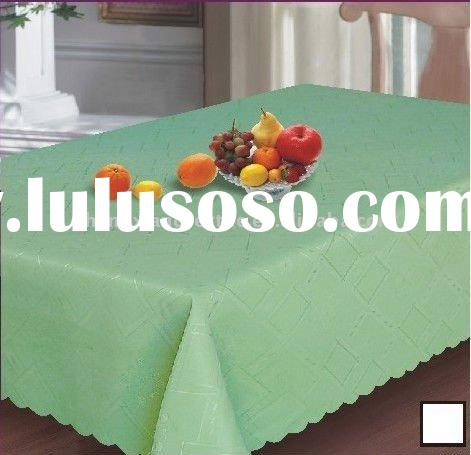 cheap 100%polyester jacquard tablecloths and napkin