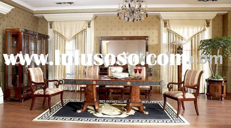 classic dining room E10 long dining table