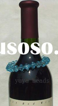 clear crystal flower beads wine glass/bottle/candle decor