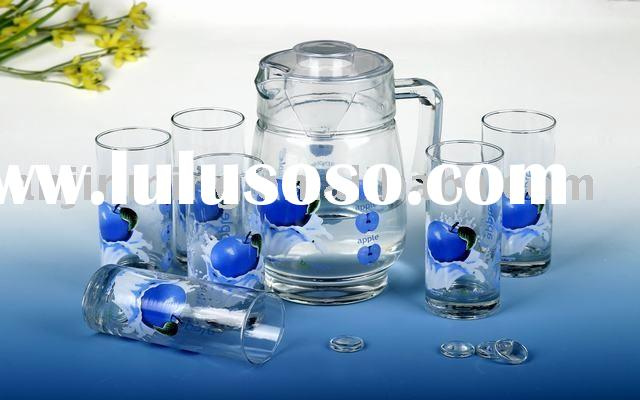 clear drinking glass set