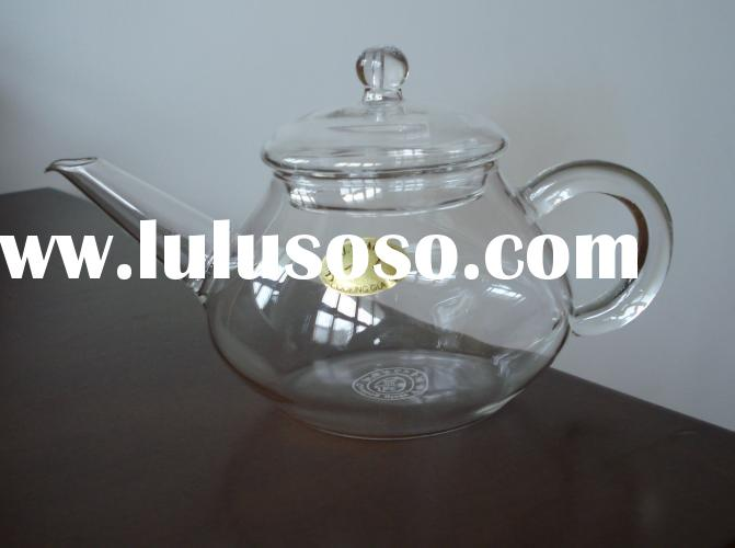 clear pyrex glass tea pot