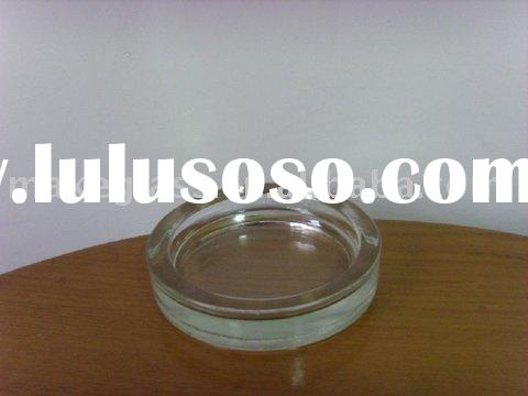 clear round glass plate