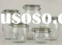 clear wholesale glass jar