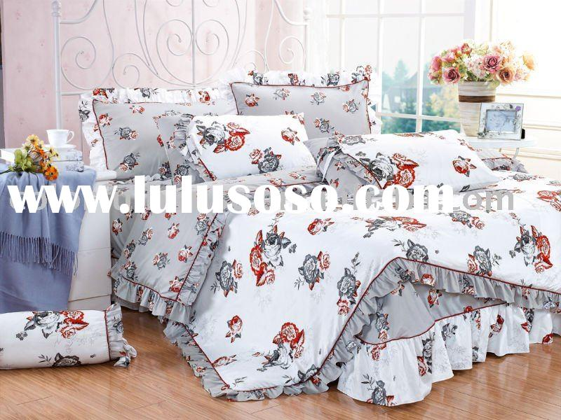 cotton baby bedding set/bed spread/bed sheet
