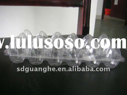 disposable plastic PVC container for quail eggs sat 18 pieces