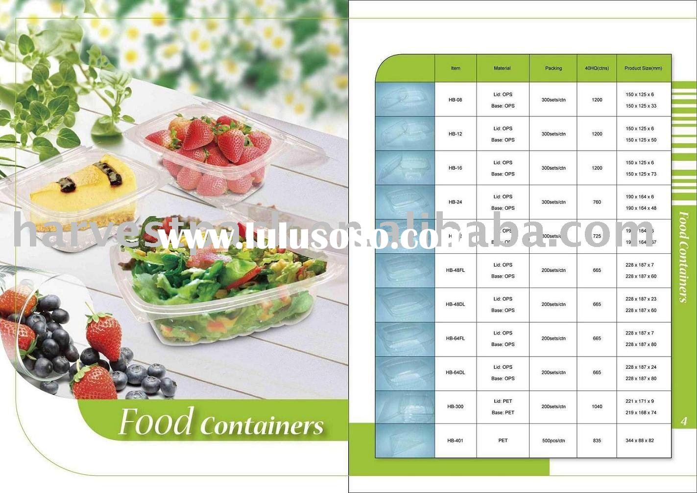 disposable plastic food packaging container food packaging box