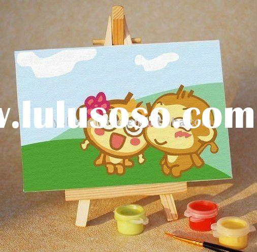 diy digital oil painting;DIY painting by numbers; diy oil painting by numbers for kids' gift