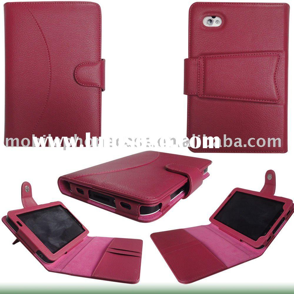 eBook Reader Faux Leather Case Cover for Kindle 3/Samsung Galaxy Tab/Nook Color
