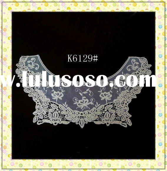 embroidery cotton collar Lace with mesh