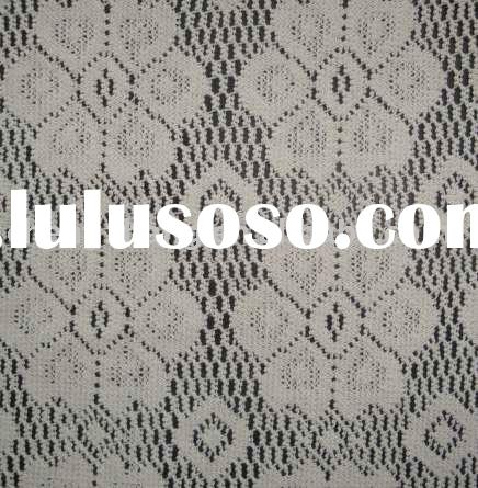 embroidery lace curtain fabric/ decorate lace