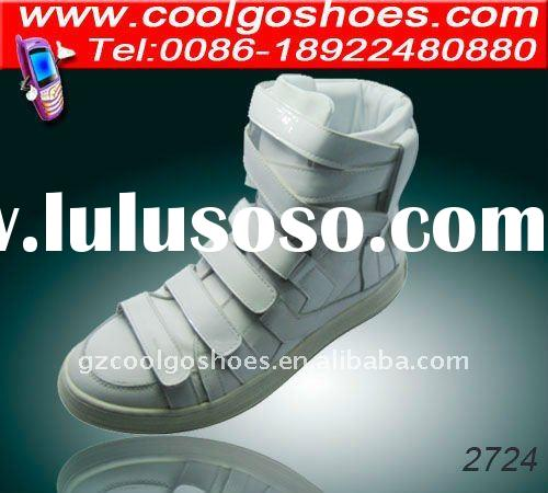 especial design trendy mens boots 2012 style in white real leather