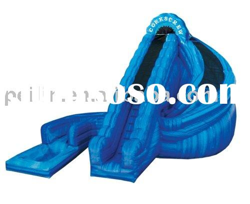 fabulous inflatable corkscrew water slide at low price
