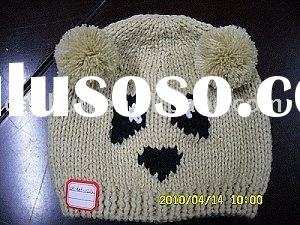 fashion knitted/crochet baby animal/bear winter hat