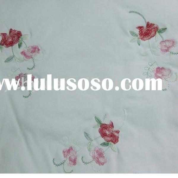 floral embroidery design bed sheet fabric