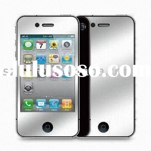 for WHITE apple iphone4g mirror screen protector/guard