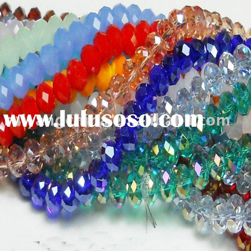 free shipping wholesale 4X6mm Crystal glass faceted abacus loose beads