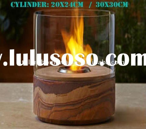 glass cylinder liquid fuel removable indoor and outdoor fire place