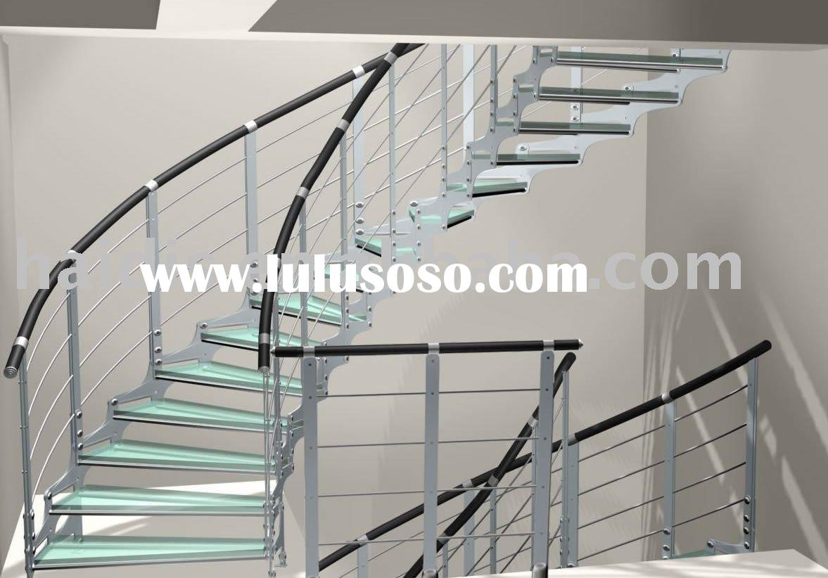 glass stainless steel stair handrail