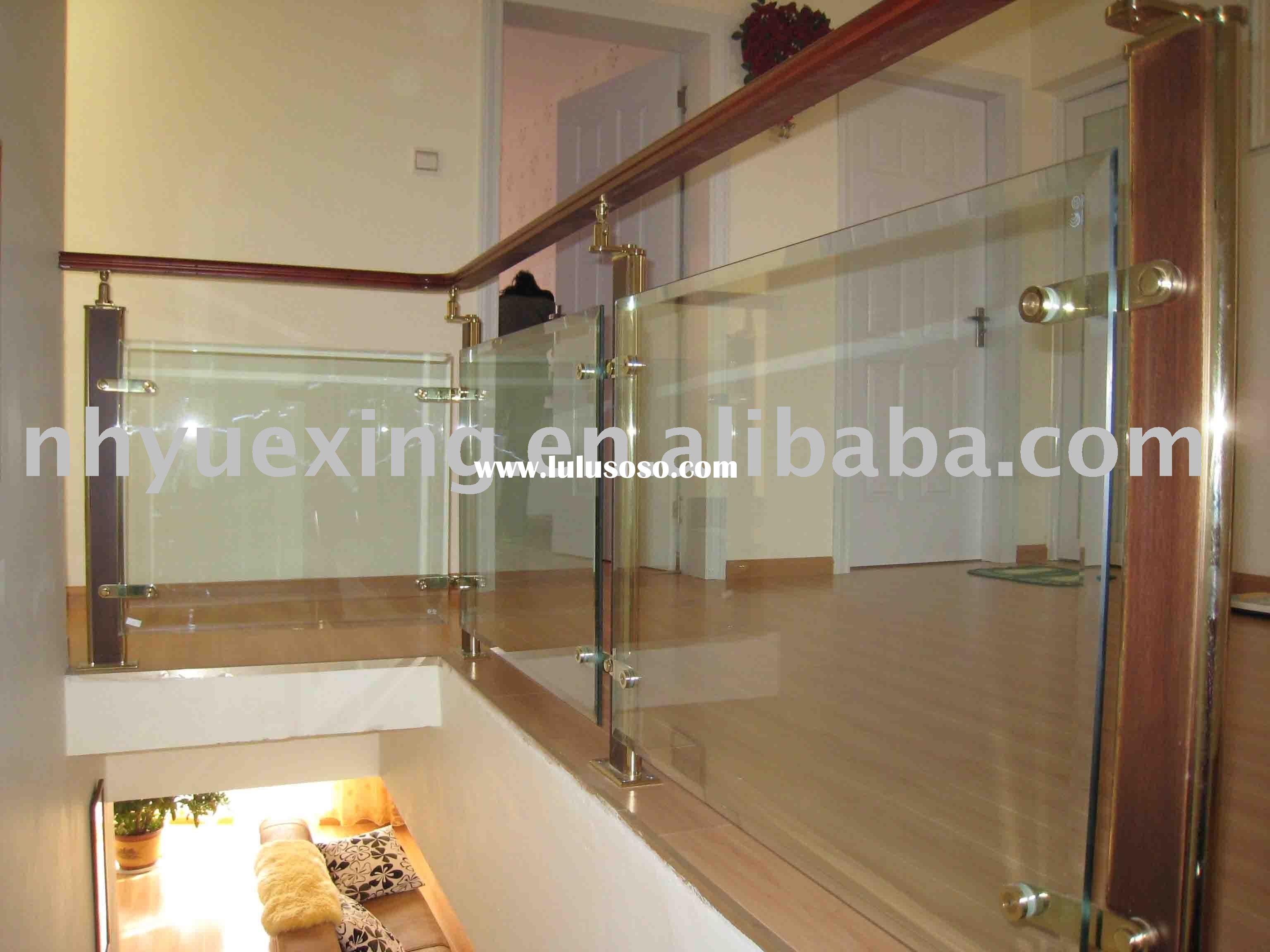 glass stair handrail