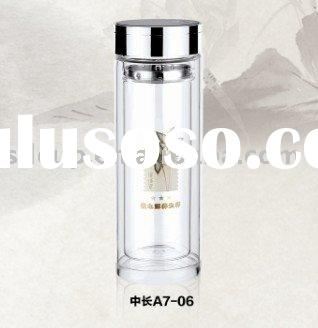 glass water bottle with lid