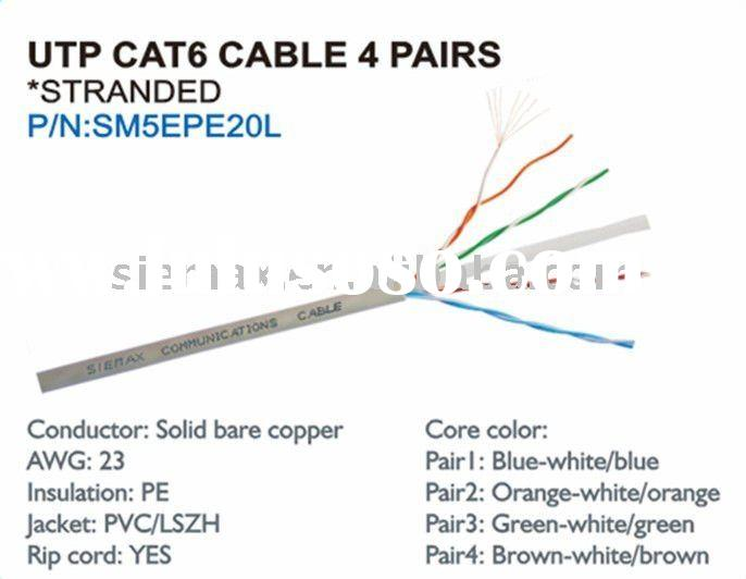 good-quality cable price cat6 4 pairs with stranded
