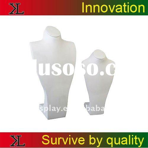 good quality leather bust jewelry neck display stand holder
