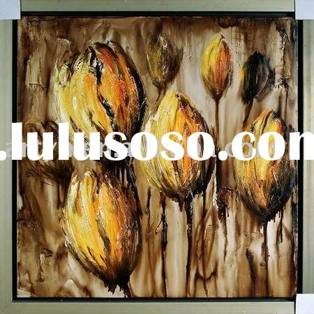 handmade modern abstract acrylic painting on canvas for decoration