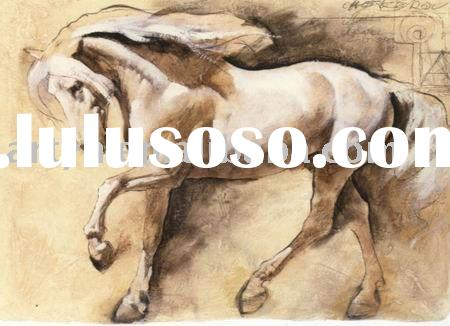 handmade modern horse oil painting,home decoration,Chinese art