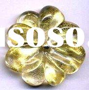 honorable glass flower accessories gold foil