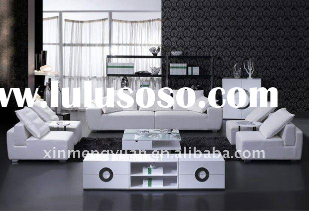 hot sale elegant modern white fabric sofa
