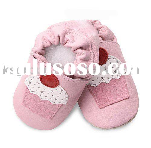 hot selling fashion Soft leather baby shoes