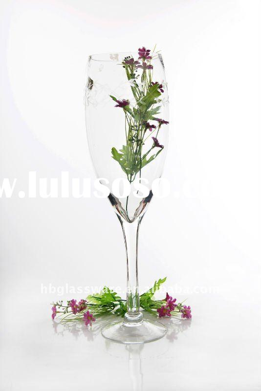 huge vase clear glass wine glass style on floor