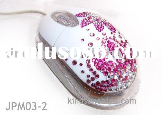 jeweled optical mouse/wired mouse/crystal mouse