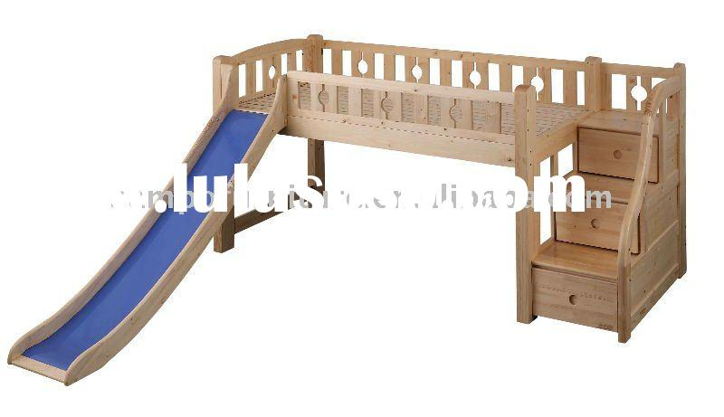 kids spruce loft bed with stairs