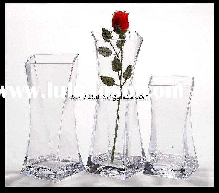 large clear glass vase for home decoration