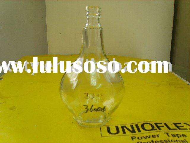 light bulb shaped glass bottle with cap