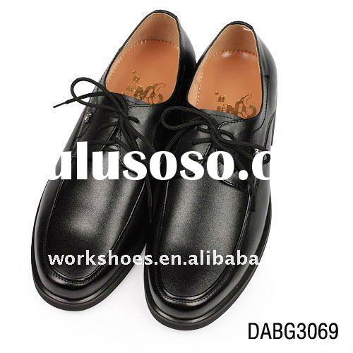men shoes, black leather shoes