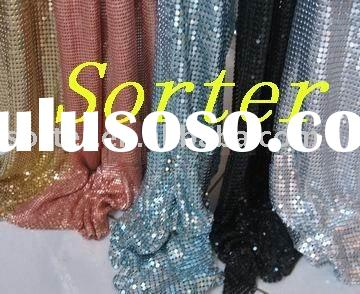 metallic decoration drapery/metallic cloth/metal fabric/metal curtain