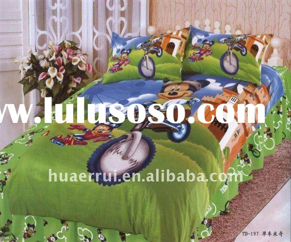 mickey mouse bedding sets/bed sheet/bed linen kinds of design