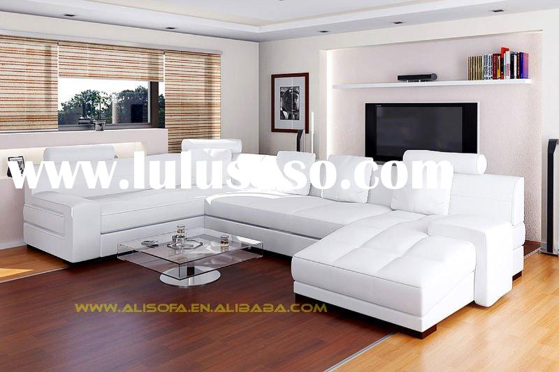modern leather sectional