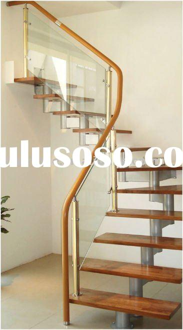 mordern wood-glass stair