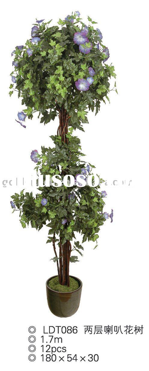 morning glory,artificial tree