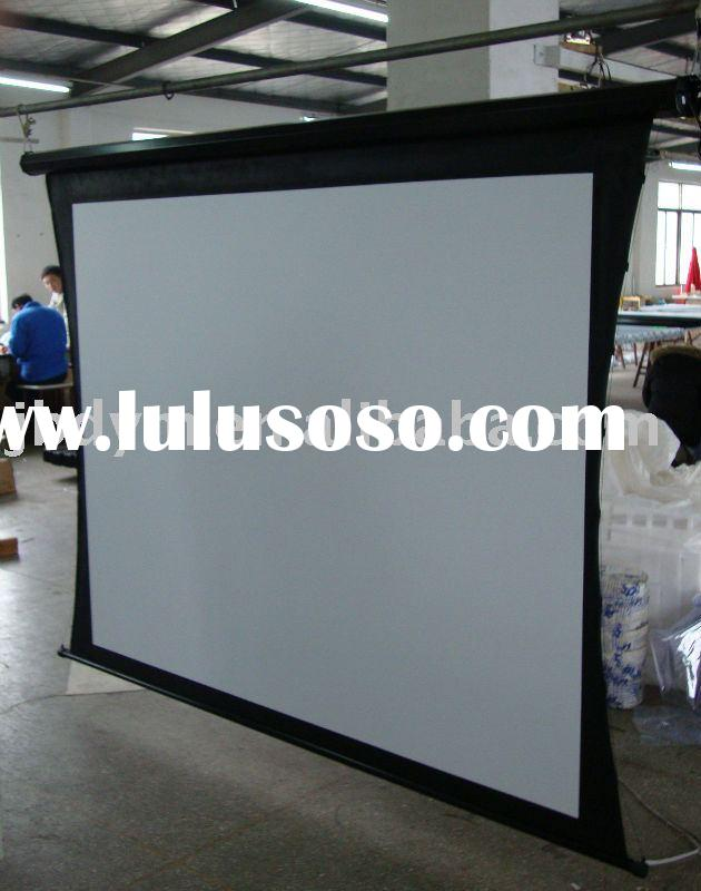 New cheapest prices stand floor projection screens for for Motorized floor up screen