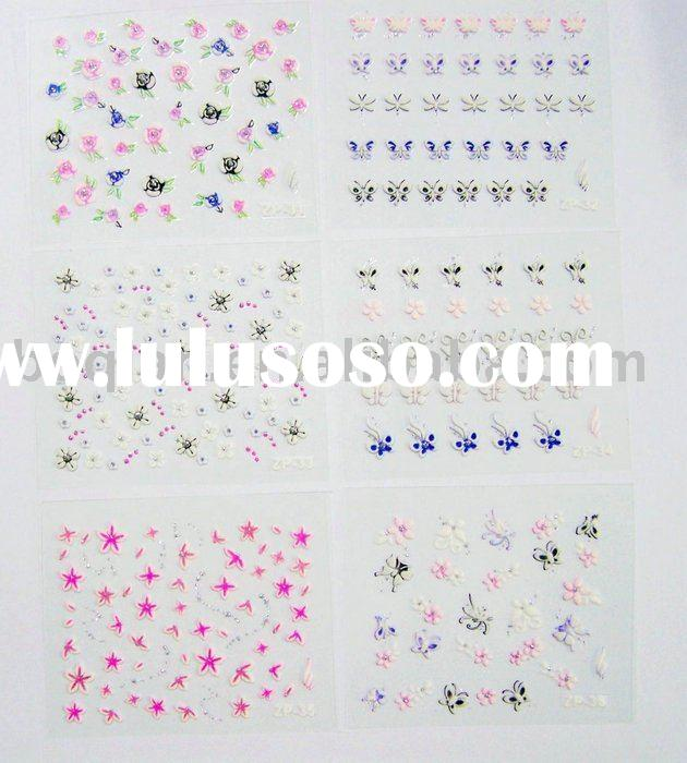nail art 3D decal/ nail sticker/decorations